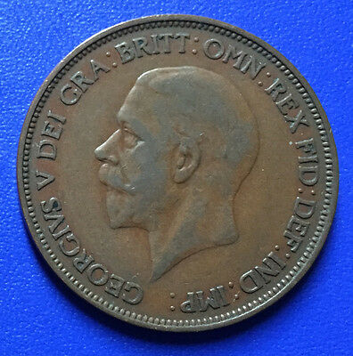 Rare & Collectable 1d King George V One Penny Coins United Kingdom 1911 to 1936