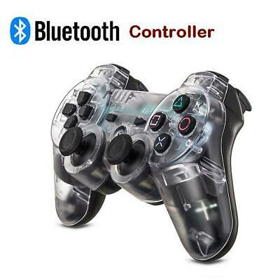 Clear Wireless Sony Playstation 3 PS3 Dual Shock Transparent Game Controller