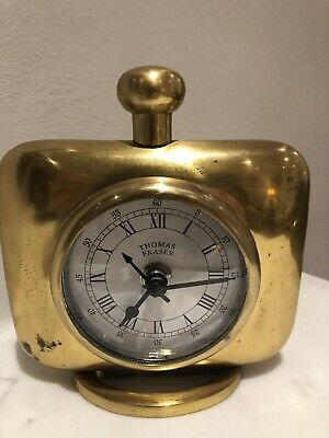Stylish Retro Einholtz Mantle Clock. Art Deco Shape. Made From Solid Brass