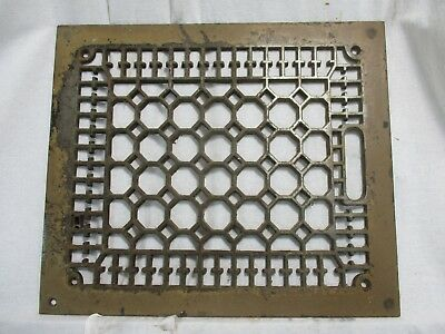 Antique Vintage Craftsman Cast Heat Grate Register Vent Architectural Salvage H