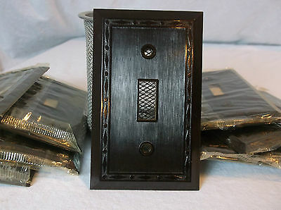Bakelite Single Wall Switch Diamonds & Dots Vintage NOS Switchplate Art Deco br