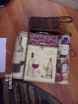 5 Wine Bottle Carrier Gift Boxes, 2 Bottle Storage Hinged Top, 3 Single