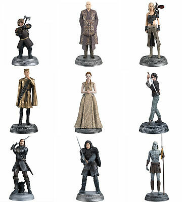HBO Game Of Thrones Eaglemoss Figurine Collection Set of 9 Different Figures