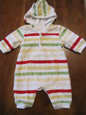 Baby Gap Christmas Velour Hooded Lined Long Sleeve Romper Creeper 0-3 month EUC