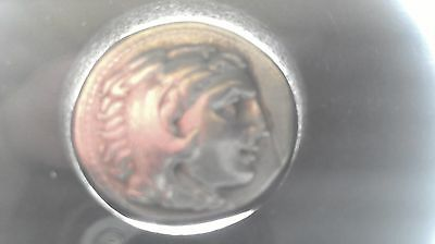 Alexander III Great of Macedon (3rd Century B.C.) AR Drachm 18mm approx 4gr