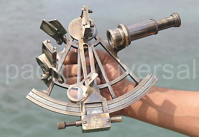 Heavy Brass Nautical Working Sextant Ships Astrolabe Beautiful Marine Gift 8""