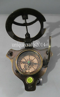 Antique Style Solid Brass Sundial Compass Working Ship Instrument Royal Item.