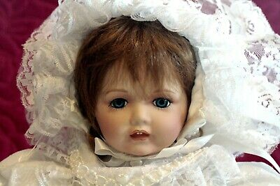 "1986 Franklin Heirloom Mint ""The Victorian Christening Baby"" Doll."