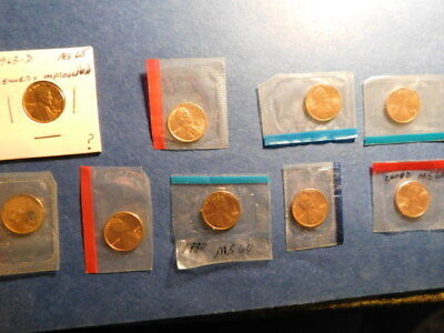 Mixed Lot of Lincoln Memorial Cent   MINT