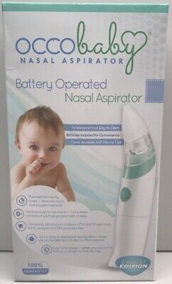 OCCObaby Baby Nasal Aspirator - Safe Hygienic and Quick Battery Operated