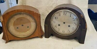 2 vintage art deco mantle clock cases