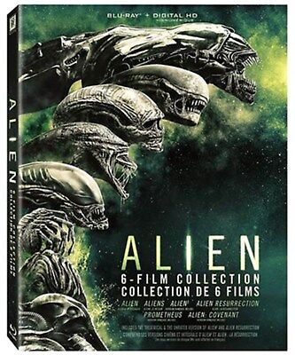 [ Blu-ray ] ALIEN  INTEGRALE 6 films, Prometheus, Covenant COFFRET NEUF FRANCE