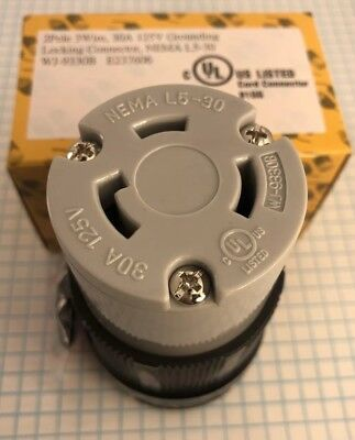 NEMA L5-30 Grounding Locking CONNECTOR, 2 Pole, 3 Wire, 30A, 125VAC, UL listed