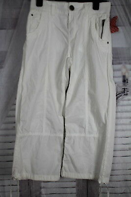 DIVIDED @ H&M 3/4 cropped trousers size 36 uk 10 brand new with tags white