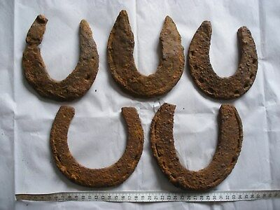 Medieval And Later Iron Horse Shoe Horseshoes Found Metal Detecting Dug Finds 3