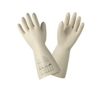 X1 Pair Latex Insulating Gloves Class 2 Long 36 cm Size 10 Gloves LATEX  HTA