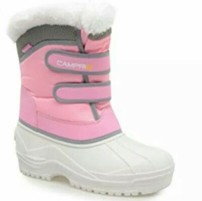 Campri Snow Boots Pink/White Infant Size UK 10