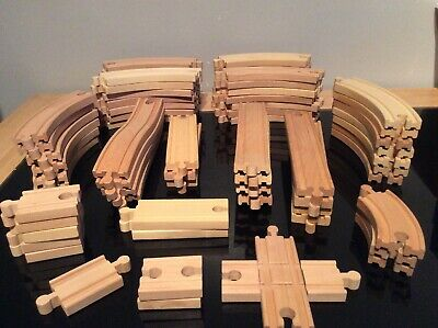 Wooden Train Track Bundle, Compatible Brio, Ikea, Tesco Bigjigs