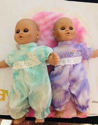 Vintage Two Lissi Baby Dolls Twins Open Close Eyes