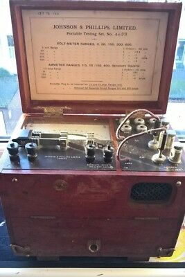 Antique Early Johnson & Phillips Portable Testing Set No. 4699 - Very Rare