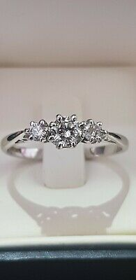 Antique Diamond Ring Set in Hallmarked 18k White Gold 18ct,absolutely Beautiful