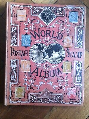 Joblot 19th Century Mixed World Stamps Album & Loose, 1000+ Stamps, T H Hinton