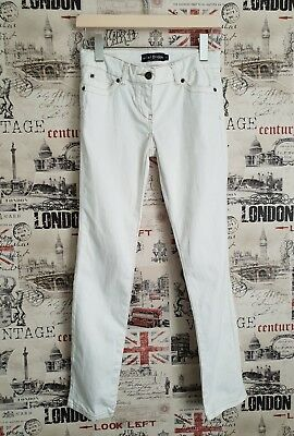 Mini Boden White Denim Trousers Adjustable Waist Jeans Age 12 Years