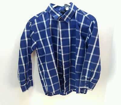 Toddler Boys 4T Nautica Button Down Long Sleeve Shirt Gently Used, BLUE/WHITE