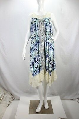 Style & Co NEW Blue Floral Lace Adrianna Max French Vince Casual Dress sz L