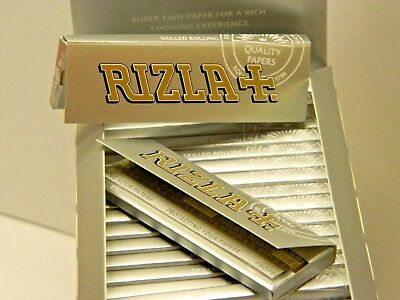 Rizla SILVER Cigarette Smoking Rolling Papers. 100% Genuine  stock.