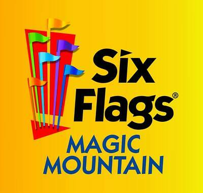 Six Flags Magic Mountain -One-Day Ticket- Regular General Admission Price $89.99