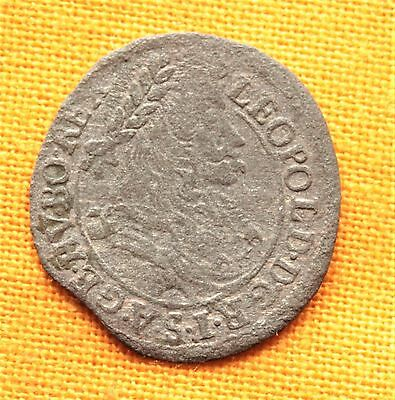 Late Medieval Habsburg Coin - Leopold Silver Poltura, 1695.