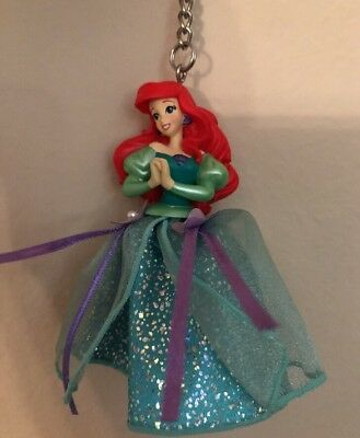 Disney Parks The Little Mermaid Princess Ariel Key Chain Figurine Dressed
