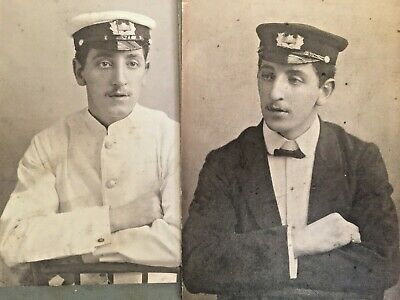 Antique Military Large Cabinet Cards Navy Naval Soldier Officer Lot WWI WW1 War