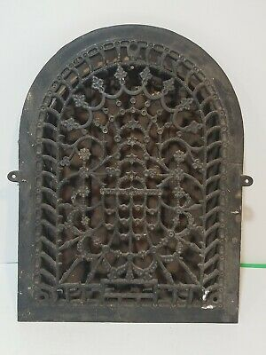 Antique Arched Tuttle & Bailey Register Grate Vent Grill Cast Iron with Louvers