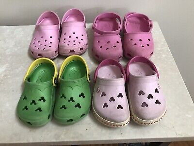 6cd80537aa13 MINNIE MOUSE CROCS Toddler Girls Shoes Pink Size 9 10 -  6.50