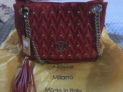 30185d352f MARIO VALENTINO MILANO Leather Quilted Purse With Gold Chain ...