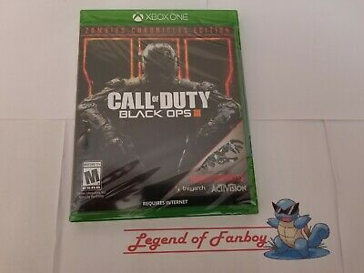 * New * Call of Duty Black Ops III 3 Zombie Chronicles - Xbox One * Sealed *