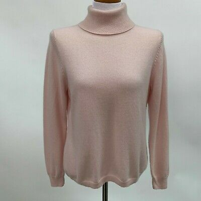 52b871b2113 Talbots Womens Sweater X-Large Pink Turtleneck 100% Cashmere Long Sleeve