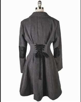 Victorian Trading Co Corset Tie Back Classic Swing Coat LG