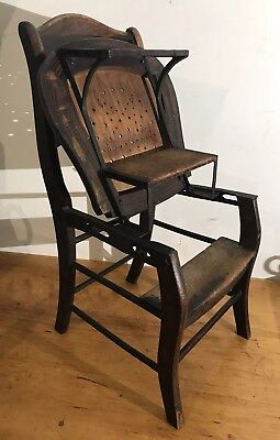 C.R.Rawson Patent 1872 Folding Chair/Steps Antique Estate Find Rosewood Grain