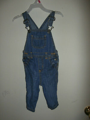 Boys Old Navy Size 6 12 Months Blue Denim Overalls Fall Winter