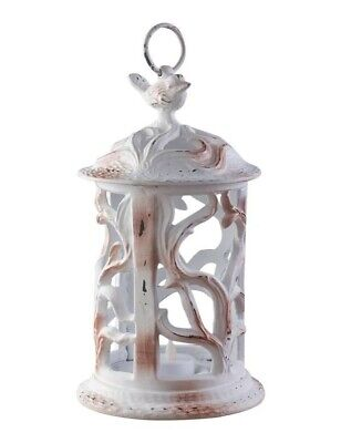 Victorian Trading Co Chippy Cast Iron Songbird Lantern Tea Light Candle Holder