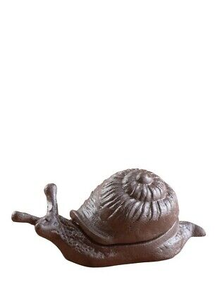 Victorian Trading Co Cast Iron Garden Snail Keyhide Key Holder Box