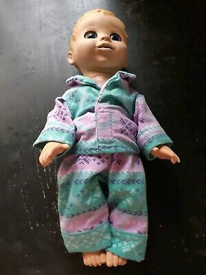 Homemade Luvabella Baby Doll Purple And Green With Reindeers Pyjama Set
