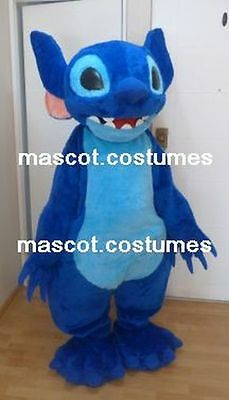 New Special monster Mascot Costume Character stitch figure blue mn