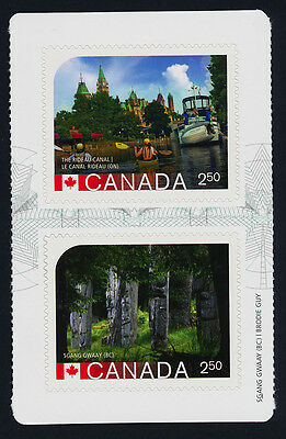 Canada 2744a Centre Booklet Pane MNH UNESCO World Heritage Sites, Rideau Canal