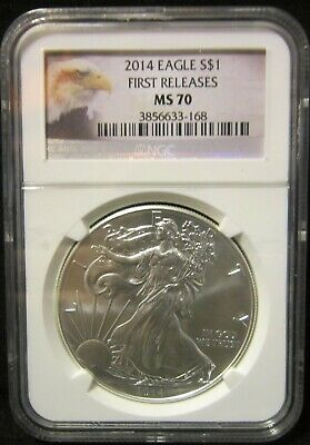 2014 Silver American Eagle - MS-70 NGC - Early Releases