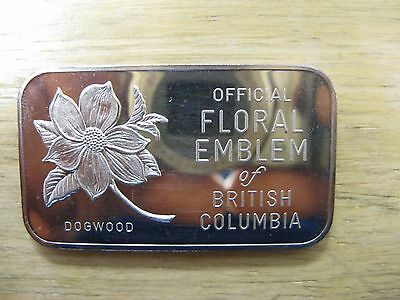 Johnson Matthey & Mallory Floral Emblem 1 Oz Silver Bar Western Mint Low Mintage