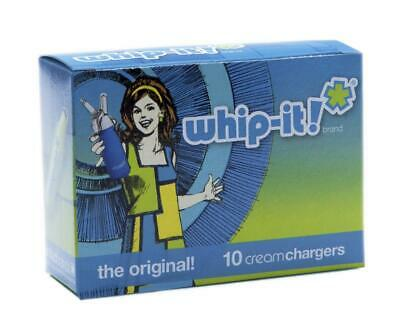 Whip-it! Cream Chargers: 10 Pack x 300 (3,000 Bulbs) of Nitrous Oxide (N2O)